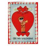 Vintage Retro Bugler Valentine Card