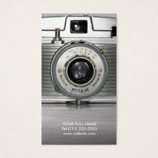 Vintage Retro Camera Business Card