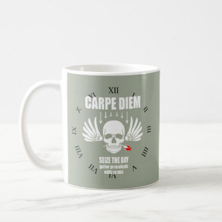 Vintage Retro Carpe Diem. Seize the day Coffee Mug