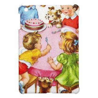 Vintage Retro Children's Birthday Party Dog Kitten Case For The iPad Mini