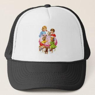 Vintage Retro Children's Birthday Party Dog Kitten Trucker Hat