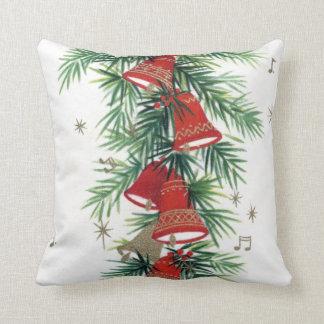 Vintage retro Christmas bells Home decor pillow