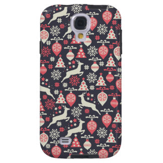 Vintage Retro Christmas Pattern Holiday Galaxy S4 Case