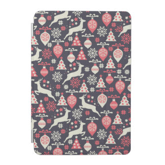 Vintage Retro Christmas Pattern Holiday iPad Mini Cover
