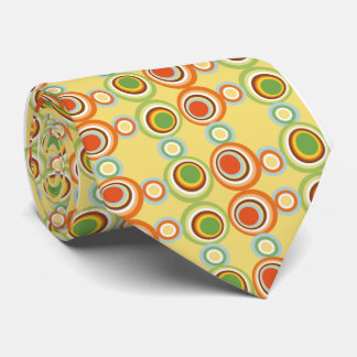 vintage retro circles 50s kitche pattern tie