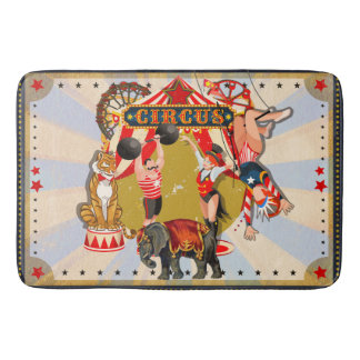 Vintage Retro Circus Bath Mat