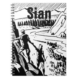 Vintage/Retro Climbers Personnalised Notebooks