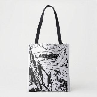 Vintage/Retro Climbers Tote Bag