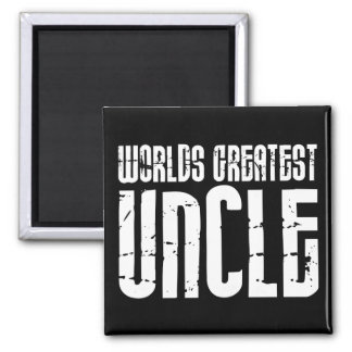 Vintage Retro Cool Uncles : World's Greatest Uncle Square Magnet