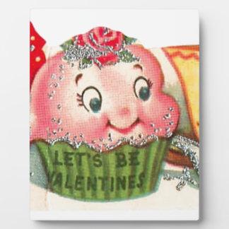 Vintage Retro Cupcake And Teacup Valentine's Day Plaque