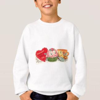 Vintage Retro Cupcake And Teacup Valentine's Day Sweatshirt