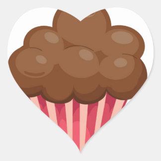 Vintage, retro cupcake lover apron design heart sticker