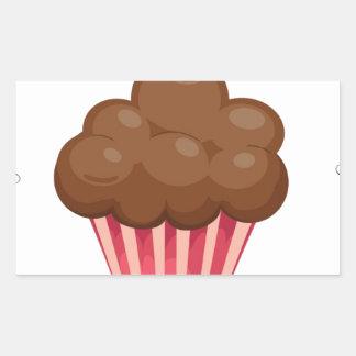 Vintage, retro cupcake lover apron design rectangular sticker