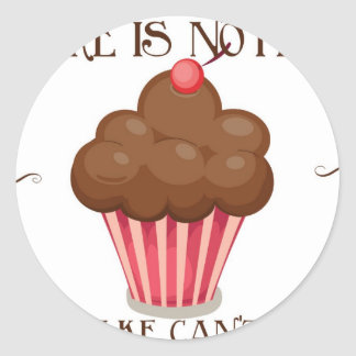 Vintage, retro cupcake lover apron design round sticker