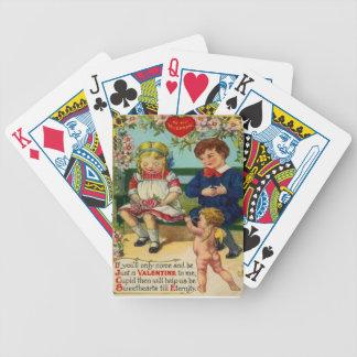 Vintage Retro Cute Couple Cupid Valentine Card Deck Of Cards
