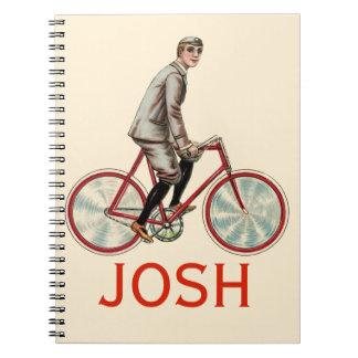Vintage/Retro Cyclist Personnalised Notebooks