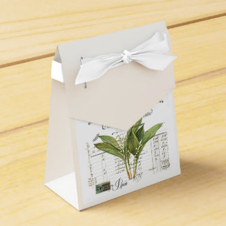 Vintage, Retro Design lily of the valley Favour Box