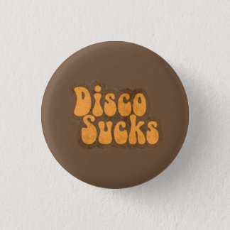 Vintage Retro Disco Sucks Distressed 70s Music Pin