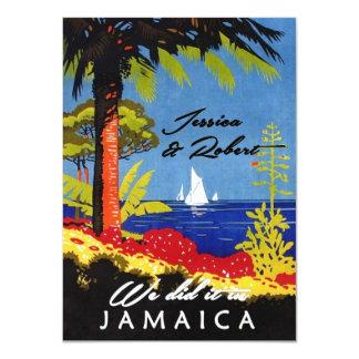 Vintage Retro Exotic Island Jamaica Reception Announcements