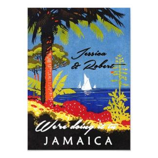 Vintage Retro Exotic Island Jamaica Wedding Invite Invites