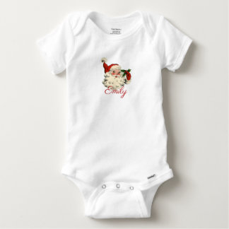 Vintage/Retro Father Christmas Personnalised Baby Onesie