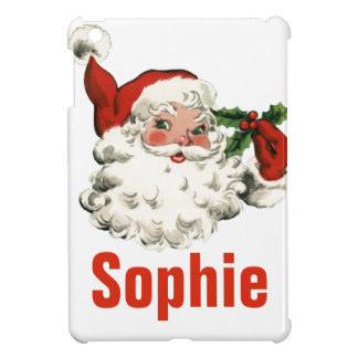 Vintage/Retro Father Christmas Personnalised iPad Mini Cover