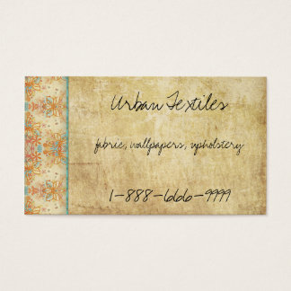 Vintage Retro Flowers Business Card