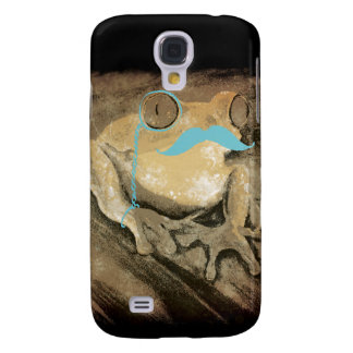 Vintage retro funny turquoise mustache frogs galaxy s4 cover