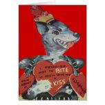 Vintage Retro Funny Wolf Valentine Card
