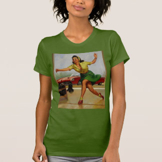 Vintage Retro Gil Elvgren Bowling pinup girl Tee Shirts