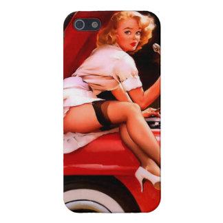 Vintage Retro Gil Elvgren Car Mechanic Pinup Girl Cover For iPhone 5