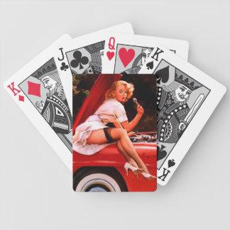 Vintage Retro Gil Elvgren Car Mechanic Pinup Girl Card Decks