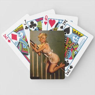 Vintage Retro Gil Elvgren Classic Pin Up Girl Bicycle Poker Deck