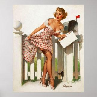Vintage Retro Gil Elvgren Mail Box Pinup Girl Posters