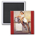 Vintage Retro Gil Elvgren Nurse Pin Up Girl Refrigerator Magnet