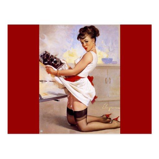 Vintage Retro Gil Elvgren Pin Up Girl Post Cards