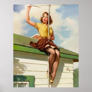 Vintage Retro Gil Elvgren Pin Up Girl Posters