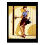 Vintage Retro Gil Elvgren Pin Up Girls Cards Postcard