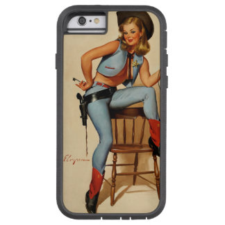 Vintage Retro Gil Elvgren Sheriff Pin Up Girl Tough Xtreme iPhone 6 Case