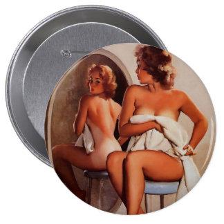 Vintage Retro Gil Elvgren Sun Tan Pinup girl Pins
