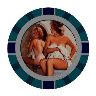 Vintage Retro Gil Elvgren Sun Tan Pinup girl Set Of Poker Chips