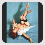 Vintage Retro Gil Elvgren Telephone Pinup girl Sticker