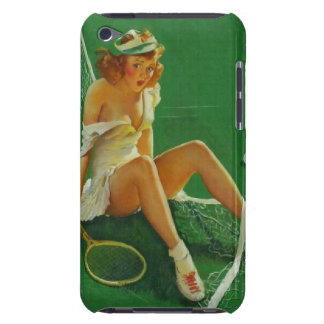 Vintage Retro Gil Elvgren Tennis Pinup Girl Barely There iPod Case