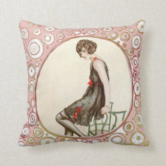 Vintage Retro Girl Cushion
