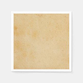 Vintage Retro Gold Brown Paper Parchment Paper Napkin