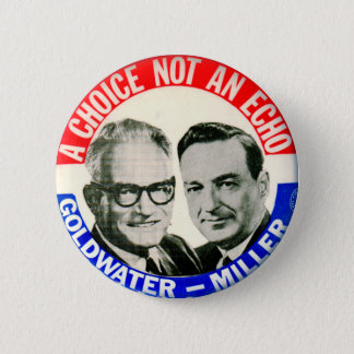 Vintage Retro Goldwater Miller Election Button