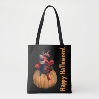 Vintage/Retro Halloween Tote Bag