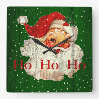 Vintage Retro Ho Ho Ho Santa Claus Clock