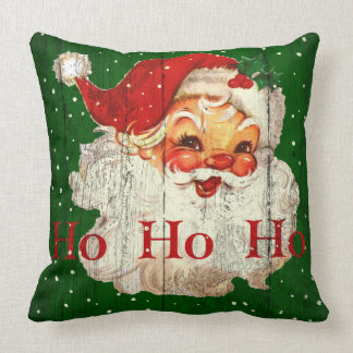 Vintage Retro Ho Ho Ho Santa Claus Pillow