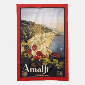Vintage retro Italian poster Tea Towel